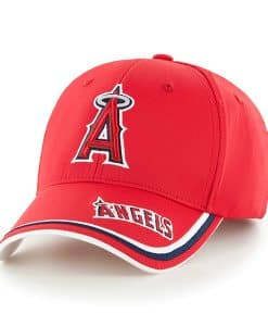 Los Angeles Angels Mass Forest Red 47 Brand Adjustable Hat
