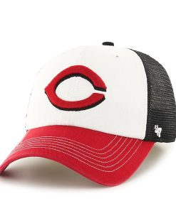 Cincinnati Reds Mckinley Closer Black 47 Brand Stretch Fit Hat