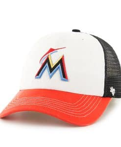 Miami Marlins Mckinley Closer Black 47 Brand Stretch Fit Hat