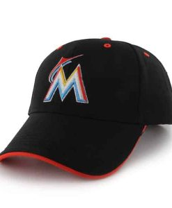 Miami Marlins Money Maker Black 47 Brand Adjustable Hat