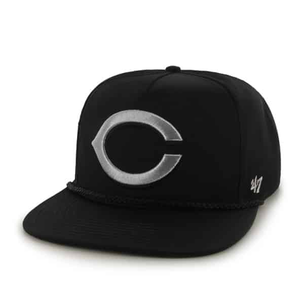 Cincinnati Reds Mine Shaft Black 47 Brand Adjustable Hat
