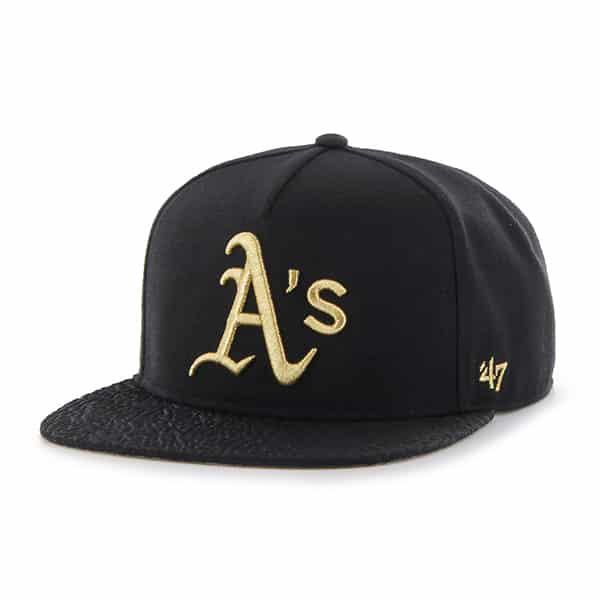 Oakland Athletics Metallic Elephant Captain Black 47 Brand Adjustable Hat