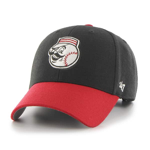 Cincinnati Reds MVP Black 47 Brand Adjustable Hat
