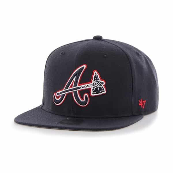 Atlanta Braves No Shot Captain Navy 47 Brand Adjustable Hat