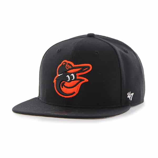 Baltimore Orioles No Shot Captain Black 47 Brand YOUTH Hat
