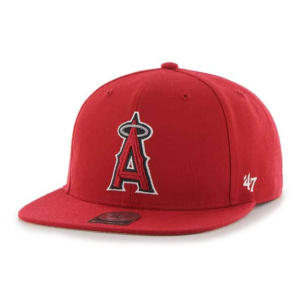 Los Angeles Angels No Shot Captain Red 47 Brand YOUTH Hat