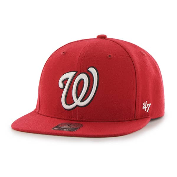 Washington Nationals No Shot Captain Red 47 Brand YOUTH Hat