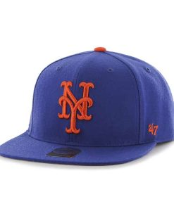 New York Mets No Shot Captain Royal 47 Brand YOUTH Hat