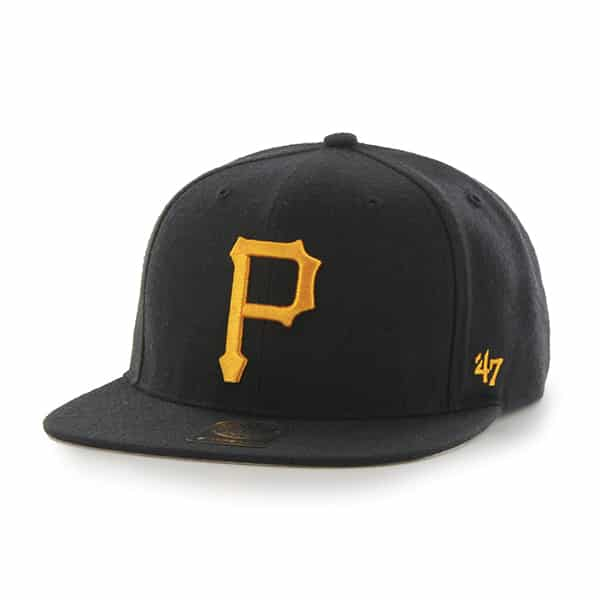 Pittsburgh Pirates No Shot Captain Black 47 Brand YOUTH Hat
