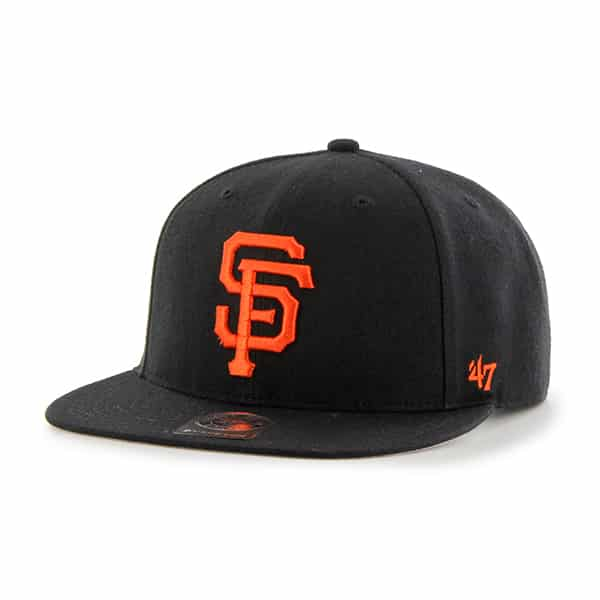 San Francisco Giants No Shot Captain Black 47 Brand YOUTH Hat