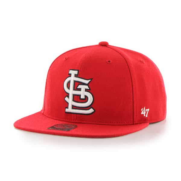 St. Louis Cardinals No Shot Captain Red 47 Brand YOUTH Hat
