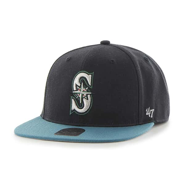 Seattle Mariners No Shot Captain Alternate Home 47 Brand YOUTH Hat