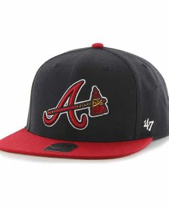 Atlanta Braves No Shot Two Tone Captain Navy 47 Brand YOUTH Hat