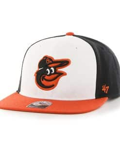 Baltimore Orioles No Shot Two Tone Captain Home 47 Brand YOUTH Hat