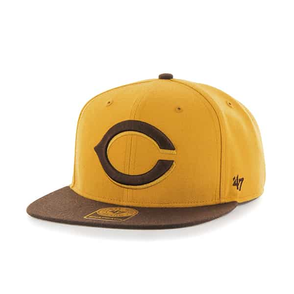 Cincinnati Reds No Shot Two Tone Captain Wheat 47 Brand Adjustable Hat
