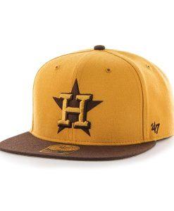 Houston Astros No Shot Two Tone Captain Wheat 47 Brand Adjustable Hat