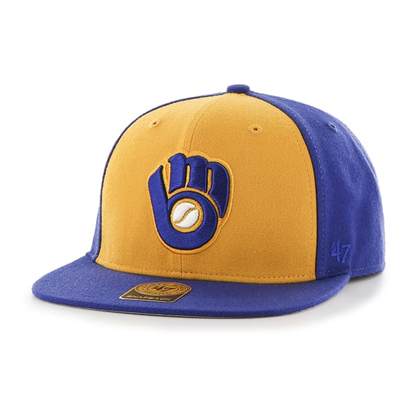 Milwaukee Brewers No Shot Two Tone Captain Batting Practice 47 Brand YOUTH Hat
