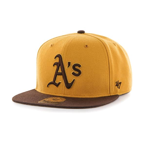 Oakland Athletics No Shot Two Tone Captain Wheat 47 Brand Adjustable Hat