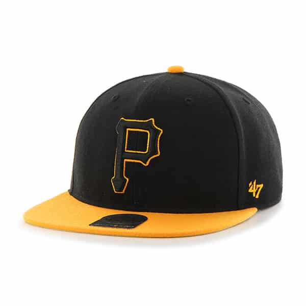 Pittsburgh Pirates No Shot Two Tone Captain Black 47 Brand Adjustable Hat