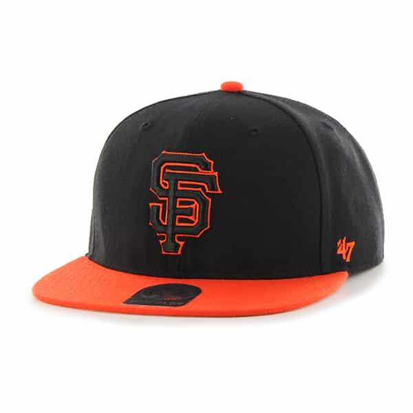 San Francisco Giants No Shot Two Tone Captain Black 47 Brand Adjustable Hat
