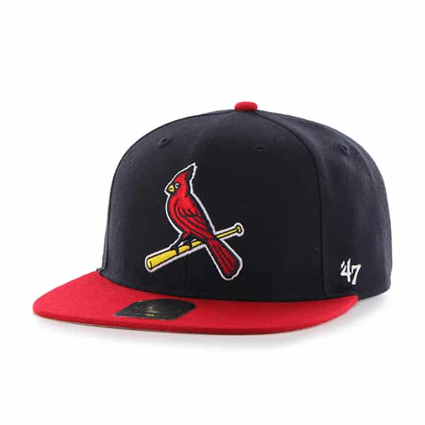 St. Louis Cardinals No Shot Two Tone Captain Navy 47 Brand YOUTH Hat