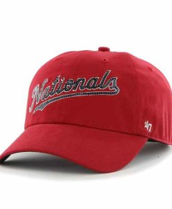 Washington Nationals Natalie Sparkle Red 47 Brand Womens Hat