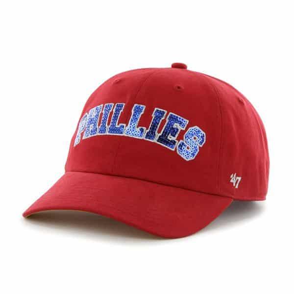 Philadelphia Phillies Natalie Sparkle Red 47 Brand Womens Hat