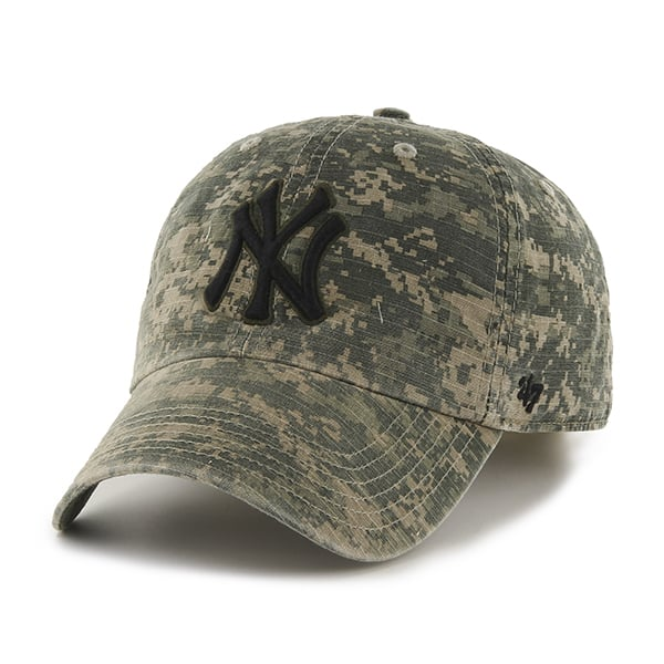 56dc9b9794ebf New York Yankees Officer Digital Camo 47 Brand Adjustable Hat - Detroit  Game Gear
