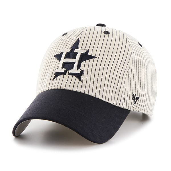 Houston Astros Pinstripe Home Run Two Tone Clean Up Navy 47 Brand Adjustable Hat