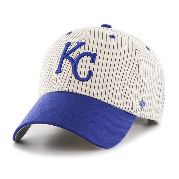 Kansas City Royals Pinstripe Home Run Two Tone Clean Up Navy 47 Brand Adjustable Hat