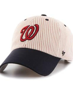 Washington Nationals Pinstripe Home Run Two Tone Clean Up Red 47 Brand Adjustable Hat