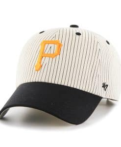 Pittsburgh Pirates Pinstripe Home Run Two Tone Clean Up Black 47 Brand Adjustable Hat
