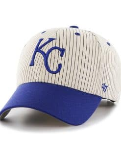 Kansas City Royals Pinstripe Home Run Two Tone MVP Navy 47 Brand Adjustable Hat