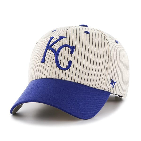 Kansas City Royals Pinstripe Home Run Two Tone MVP Navy 47 Brand Adjustable Hat