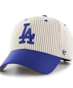 Los Angeles Dodgers Pinstripe Home Run Two Tone MVP Navy 47 Brand Adjustable Hat