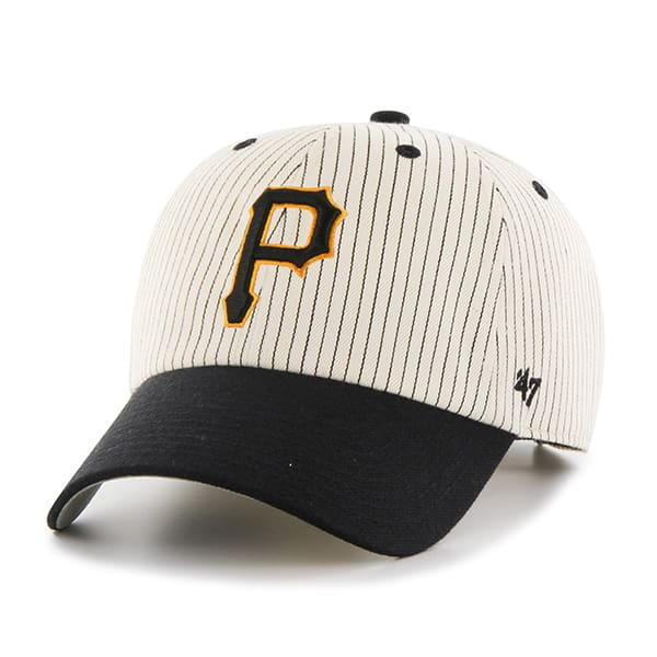 Pittsburgh Pirates Pinstripe Home Run Two Tone MVP Black 47 Brand Adjustable Hat