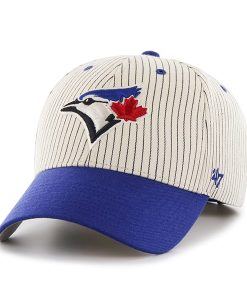 Toronto Blue Jays Pinstripe Home Run Two Tone MVP Navy 47 Brand Adjustable Hat