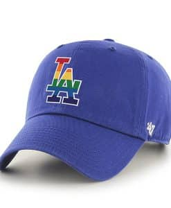 Los Angeles Dodgers Pride Clean Up Royal 47 Brand Adjustable Hat