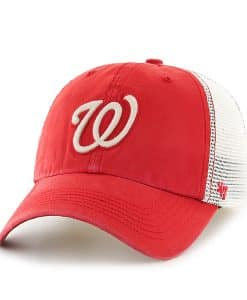 Washington Nationals Rockford Closer Red Rock 47 Brand Stretch Fit Hat