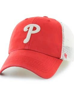 Philadelphia Phillies Rockford Closer Red Rock 47 Brand Stretch Fit Hat