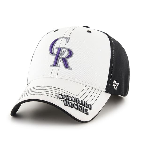 Colorado Rockies Revolution Black 47 Brand KID Hat
