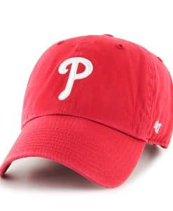 size 40 30ba0 0ccd9 Philadelphia Phillies Clean Up Red 47 Brand YOUTH Hat