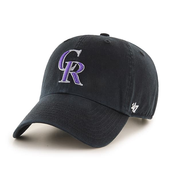 Colorado Rockies Clean Up Black 47 Brand Adjustable Hat