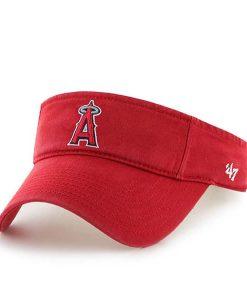 Los Angeles Angels Clean Up Visor Red 47 Brand Adjustable Hat