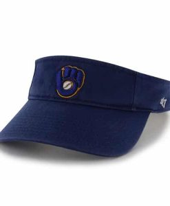 Milwaukee Brewers 47 Brand Royal Clean Up Visor Adjustable Hat