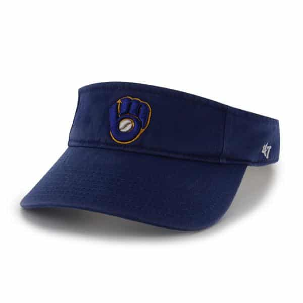 Milwaukee Brewers Clean Up Visor Royal 47 Brand Adjustable Hat