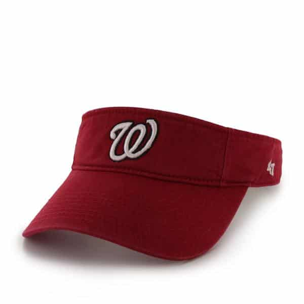 Washington Nationals Clean Up Visor Red 47 Brand Adjustable Hat