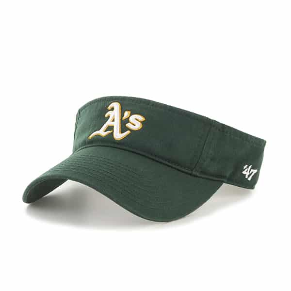 Oakland Athletics Clean Up Visor Dark Green 47 Brand Adjustable Hat