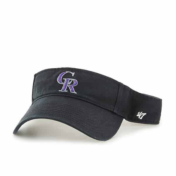 Colorado Rockies Clean Up Visor Black 47 Brand Adjustable Hat