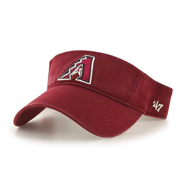 Arizona Diamondbacks Clean Up Visor Razor Red 47 Brand Adjustable Hat